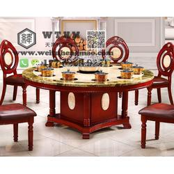 实木餐桌椅 榆木餐桌椅 松木餐桌椅价钱图片