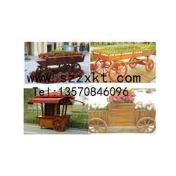 花箱树箱,花箱木车工厂,花箱木车纯手工制作图片