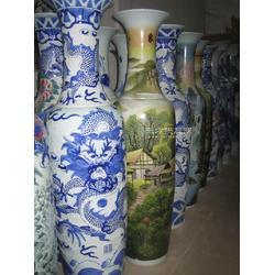 落地陶瓷高大花瓶1.8米 手绘青花大花瓶摆件 酒店陶瓷工艺品定制图片