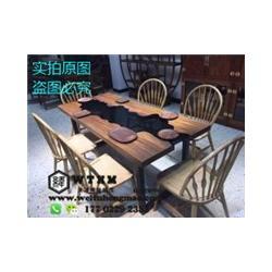 津复古实木餐桌椅 现代实木餐桌椅 简约实木餐桌椅图片