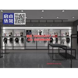 KM快时尚男装货架1250黑色靠墙边柜 KM中岛柜图片