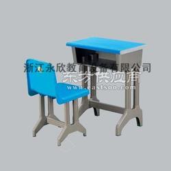 XS-003塑钢课桌椅 中空面板 四管课桌 配四管背靠椅图片
