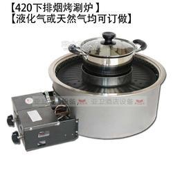 420下排烟燃气烤涮炉 可清汤可鸳鸯图片