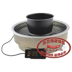 亚卫电烧烤炉 韩式上抽风烧烤炉烤涮炉WY420A图片
