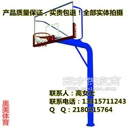 地埋式单臂篮球架室外健身器材制造应用范围广图片