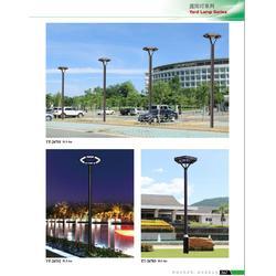 热销LED铝制庭院灯单双头庭院路灯景观灯图片