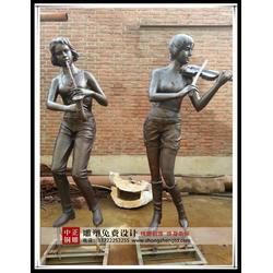 定做步行街雕塑-中正铜雕(在线咨询)-步行街雕塑图片