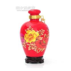 定制婚庆用红色陶瓷酒瓶图片