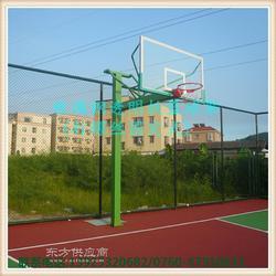 丁字型固定埋地篮球架生产厂家 训练比赛专用篮球架图片
