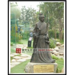 铸铜古代名医雕塑、古代名医雕塑、中正铜雕图片