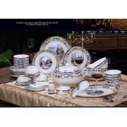 中秋节礼品高档陶瓷餐具,商务馈赠礼品餐具定做厂家图片