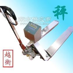 供应500kg移动电子叉车秤,全不锈钢防腐防水叉车秤图片