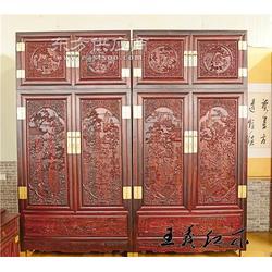 王义红木老挝红酸枝顶箱柜不开裂不上漆的顶箱柜图片