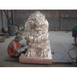 门狮、河北博创铜狮子雕塑有限公司、铸铜门狮厂家图片