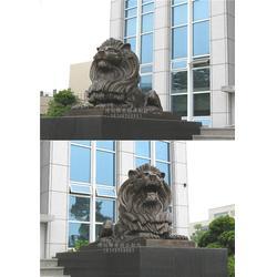 河北博创铜狮子雕塑有限公司(图)、铜雕门狮厂家、门狮图片