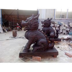 博创雕塑 铸铜麒麟厂家-铜麒麟图片