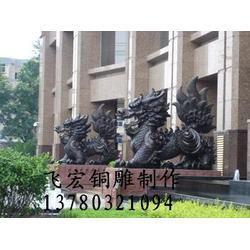 铜麒麟厂家|博创雕塑(图)|银行铜麒麟厂图片
