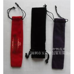 大量生产饰品包装袋 束口绒布筷子袋 烫金绒布袋印刷图片