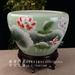 庭院陶瓷大缸 青花瓷大缸定做厂家图片