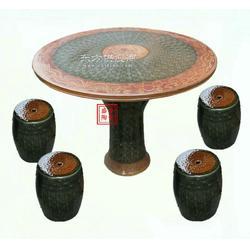 露天陶瓷桌子 定制盛誉陶瓷桌凳厂家图片