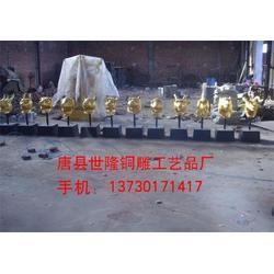 世隆雕塑、青岛黄大仙十二生肖铜雕塑制作图片