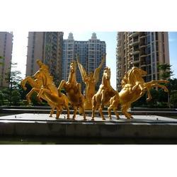 四川铜马雕塑|世隆铜雕塑|铜马雕塑厂家