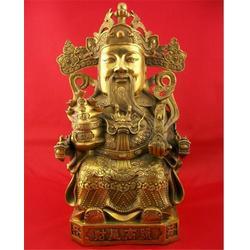北京铜财神,纯铜财神像,世隆工艺品图片