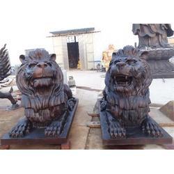 大型铜狮子雕塑厂家 广西大型铜狮子雕塑 世隆工艺品