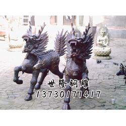 镇宅麒麟铜雕厂家-世隆雕塑公司图片