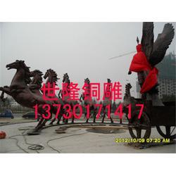 大型铜马踏飞燕厂家-世隆雕塑图片