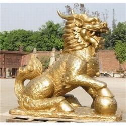 铜麒麟厂家-世隆雕塑平安娱乐-镇宅铜麒麟厂家图片