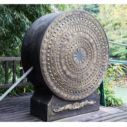 铜鼓雕塑报价-世隆雕塑图片