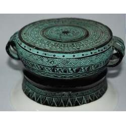 世隆铜雕-娄底青铜鼓雕塑定做图片