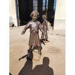 步行街人物雕塑,世隆雕塑,青海步行街人物雕塑图片
