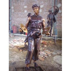 世隆雕塑 公园古代人物铜雕塑 黑龙江古代人物铜雕塑图片