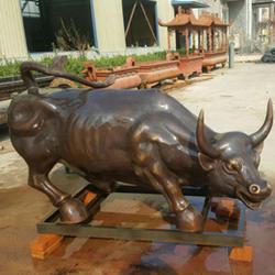 定做銅耕牛-世隆銅雕-定做銅耕牛擺件圖片