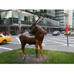 铜鹿雕塑厂家-世隆铜雕