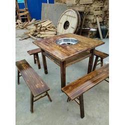 盛豪家具 黄埔区碳化木餐桌哪家好-碳化木餐桌图片