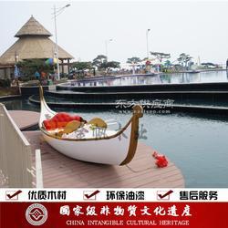 威尼斯贡多拉游船加工定制各类欧式木船装饰船图片
