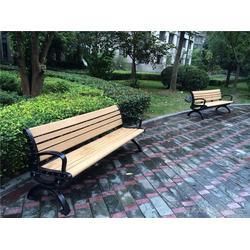 售楼部休闲实木公园椅报价、如典、保定公园椅图片