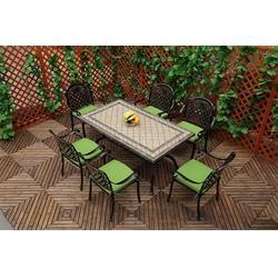 公园铸铝休闲桌椅厂家|坪山新区铸铝休闲桌椅厂家|如典户外家具图片