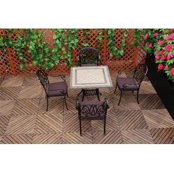 商场铸铝休闲桌椅厂家,如典户外家具,虎门铸铝休闲桌椅厂家图片