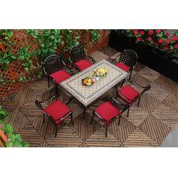露台花园铸铝桌椅、如典、黄冈花园铸铝桌椅图片