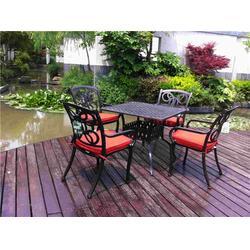 深圳户外铸铝桌椅定做 户外铸铝桌椅 如典质量保证图片