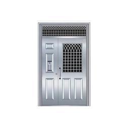 丰华门业(图),铝合金单元门,德城区铝合金单元门图片