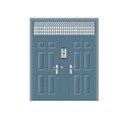 兰山区铝合金单元门|丰华门业|小区铝合金单元门图片