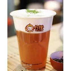 柠橙茶语出品奶盖抹茶图片