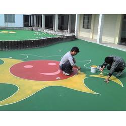 彩色塑膠地坪施工圖片