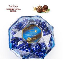 意大利安娜榛子牛奶巧克力宝石罐礼盒250g图片