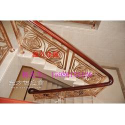 豪华住宅家用楼梯踏板铝艺雕花楼梯防护栏图片
